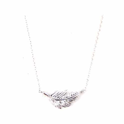 f57f934364e Iets Nieuws Ketting Feather Zilver - Capricci #TO89