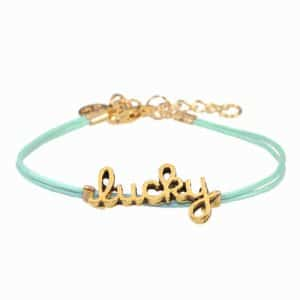 Mint15 feel good armbandje Lucky in mintgroen