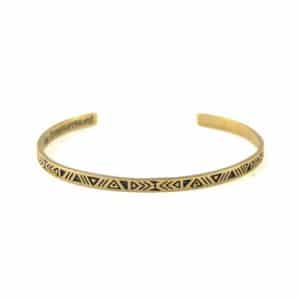 My TreasureHunt Aztec Stacking Bracelet in brass
