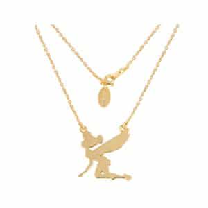 Disney Couture DYN008: Tinkerbell Silhouette ketting in goud