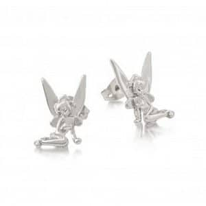 Disney Couture DYE458: Sitting Tinkerbell studs in zilver