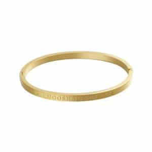 Armband met tekst Choose to shine in goud