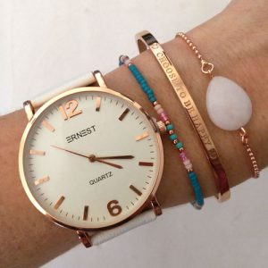 Armband met tekst Choose to be happy in goud
