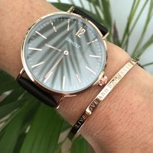 Armband met tekst Live love and happiness in rosé