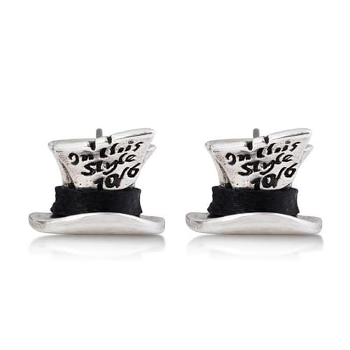 Disney Couture DYE0725: Mad Hatter studs in zilver