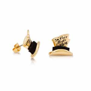 Disney Couture DYE0725: Mad Hatter studs in goud