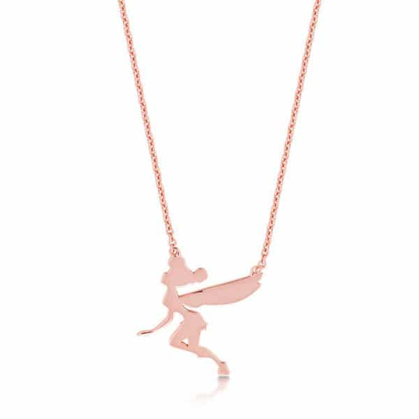 Disney Couture DRN008: Tinkerbell Silhouette ketting in rosé goud