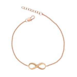 Infinity armband in rose goud