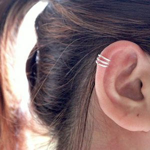 925 Zilveren triple band ear cuff
