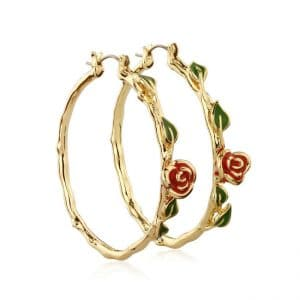 Disney Couture DYE241: Beauty and the Beast hoops in goud