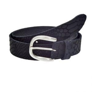 Elvy belt Scale in zwart met snake print