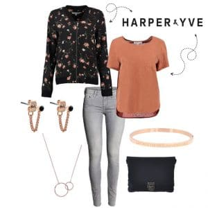 Harper & Yve T-shirt FW17X30-1 in cedarwood