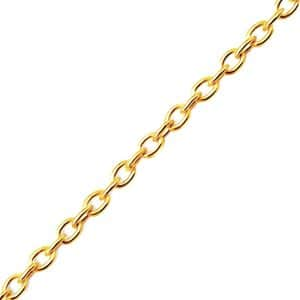 Gold plated 925 zilveren ketting 45 cm