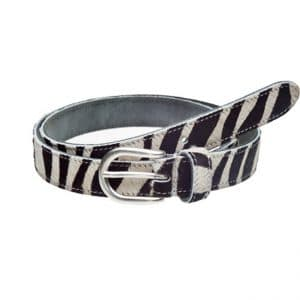 Elvy belt Zebra in zwart wit