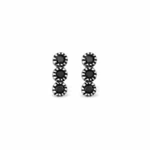 925 Zilveren triple dot studs