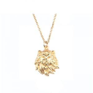 All the luck in the world ketting lion goud