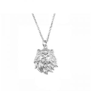 All the luck in the world ketting lion zilver