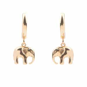 All the luck in the world oorbellen elephant goud