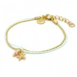 Mint15 Little Charm Bracelet Starfish Gold