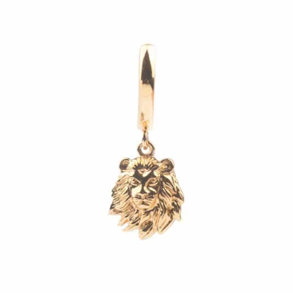 All the luck in the world oorbel lion goud
