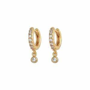 Gold Plated 925 Zilveren Ultimate Sparkle Earrings