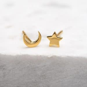 Midsummer Star Gold Galaxy Studs