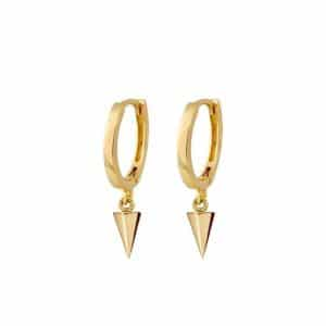 Gold plated 925 Zilveren Triangle Drop Earrings
