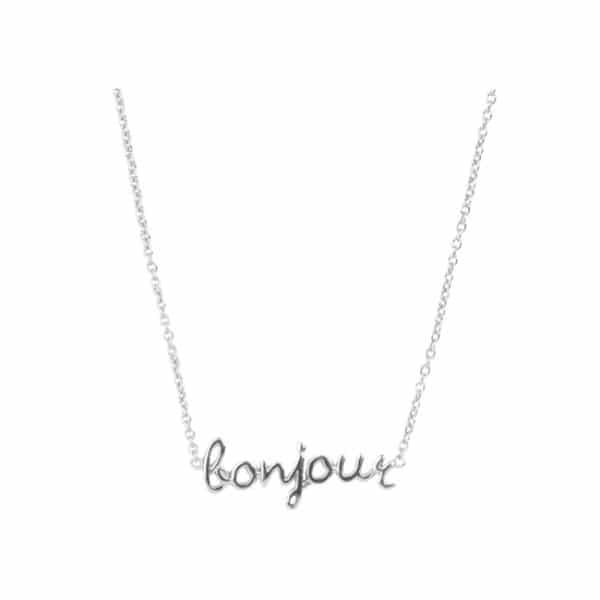 All the luck in the world ketting Bonjour zilver