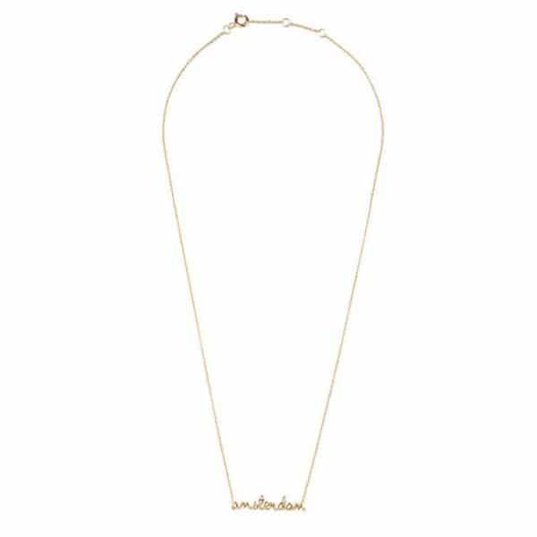 All the luck in the world ketting Amsterdam goud
