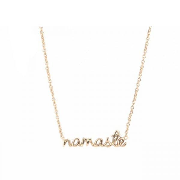 All the luck in the world ketting Namaste goud