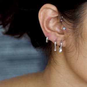 925 Zilveren huggie earrings
