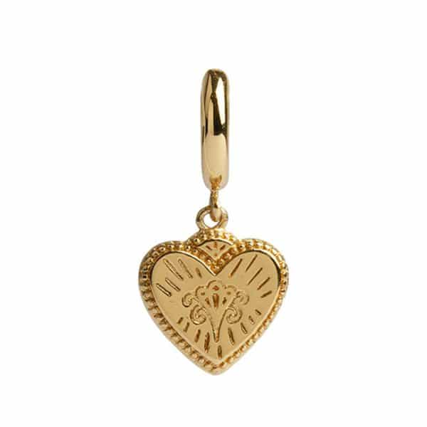 All the Luck in the World Oorbel Burst Hart Gold